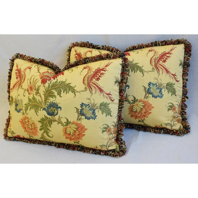 "Italian Coraggio Jacquard Feather/Down Pillows 24"" X 17"" - Pair For Sale - Image 9 of 13"