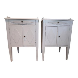 Country Swedish Christina Side Tables - a Pair For Sale