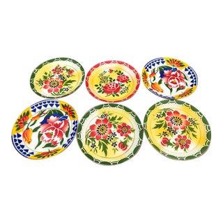 Vintage Graniteware Enamelware Floral Plates (6)