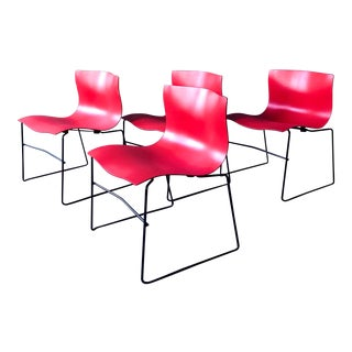 "Vintage ""Handkerchief"" Chairs by Massimo Vignelli for Knoll - Set of 4 For Sale"