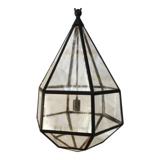 E.F. Chapman for Visual Comfort Tapered Hex Lantern Aged Iron For Sale