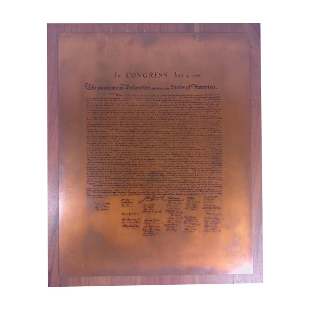 Vintage Declaration of Independence Wall Plaque - Image 1 of 4