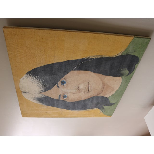 Portrait of a Woman in the Style of Alex Katz - Image 6 of 7
