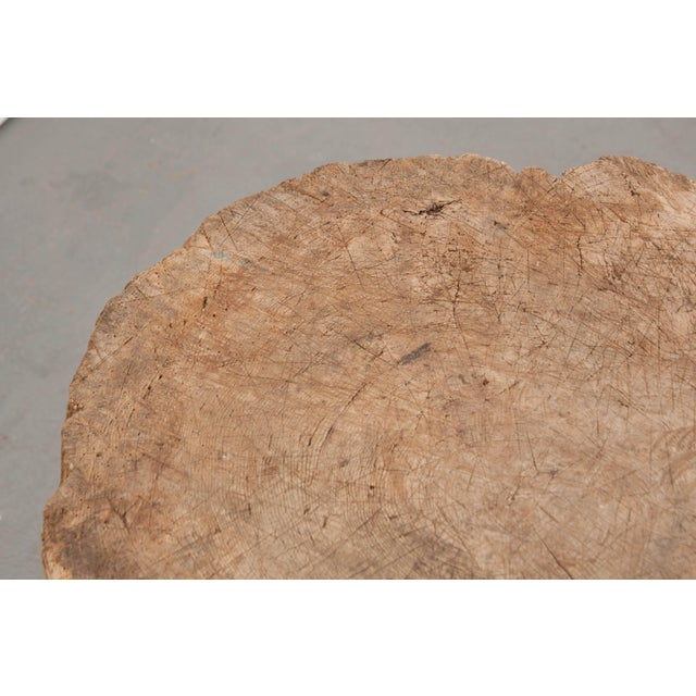 """Mid 19th Century French 19th Century Provincial """"Tree Trunk"""" Chopping Block For Sale - Image 12 of 13"""