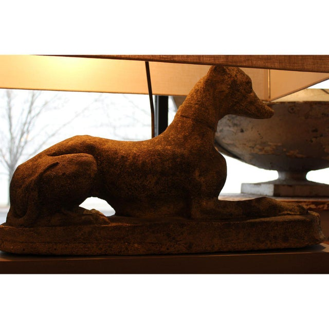 Grand Pair of Antique English Dogs With Custom Base and Linen Shades - Image 5 of 8