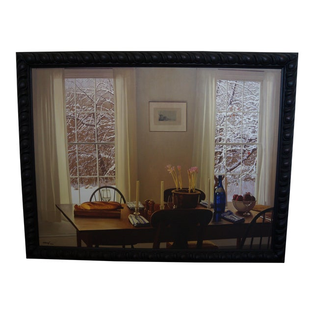 "William B. Hoyt ""Winter Dinner"" Giclee Print For Sale"