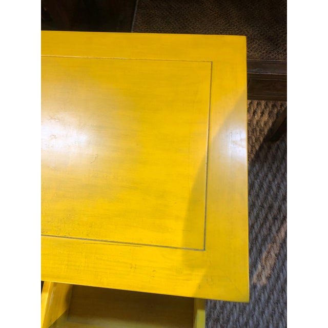 Asian Ming Style Yellow Writing Desk For Sale - Image 3 of 7