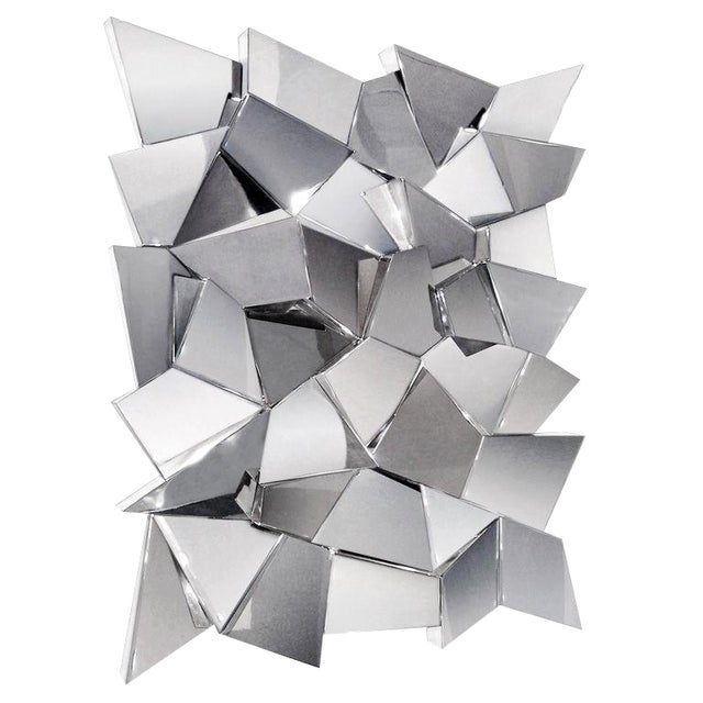 Delaunay Chrome Mirror / Wall Sculpture by Craig Van Den Brulle For Sale