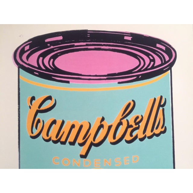 """2010s Andy Warhol Foundation Lithograph Print Pop Art Poster """" Campbell's Soup Can """" 1965 For Sale - Image 5 of 11"""