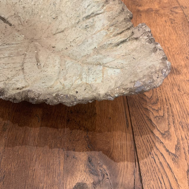 Concrete Leaf Decorative Bowl For Sale In Houston - Image 6 of 13
