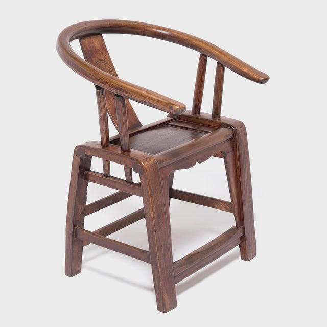 19th Century Provincial Chinese Elm Roundback Chair For Sale In Chicago - Image 6 of 6