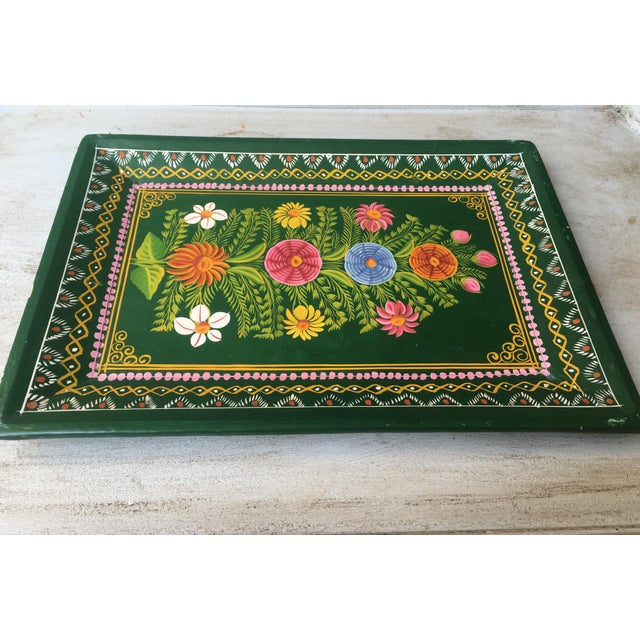 Antique Hand-Painted Spanish Folk Art Tray - Image 3 of 11