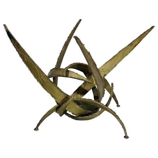 Silas Seandel Brutalist Torch Cut Sculpture Coffee Table Base, Circa 1960s For Sale