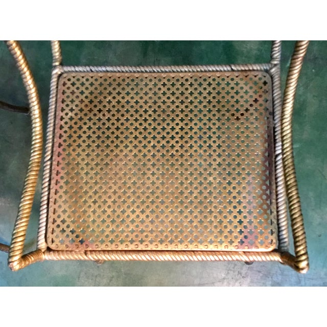 Gilt Metal Chairs - Set of 6 For Sale - Image 10 of 13