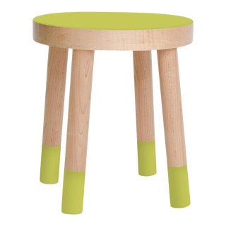 Poco Kids Chair in Maple With Green Finish For Sale