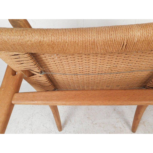 Hans Wegner for Carl Hansen Mid-Century Modern Ch 25 Lounge Chair For Sale - Image 9 of 11