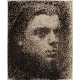 """Rare 1959 Henri Fantin-Latour """"Self-Portrait"""", Large Hungarian Photogravure For Sale"""