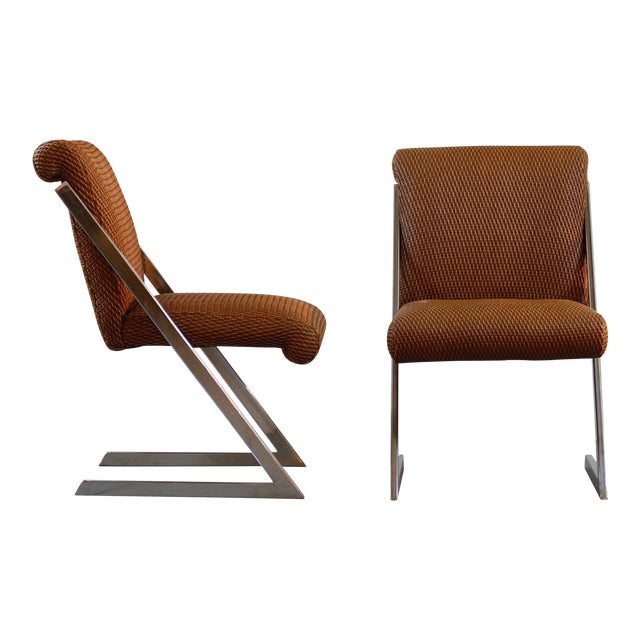 Pair of Mid-Century Synthetic Rattan Chairs For Sale