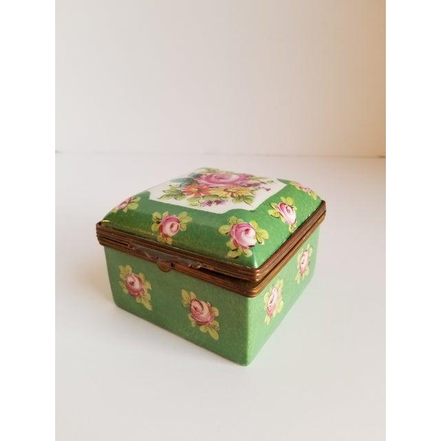 Antique French Porcelain Trinket Box For Sale - Image 12 of 12