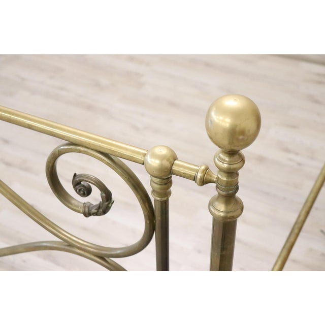 Gold 20th Century Italian All Brass Double Bed For Sale - Image 8 of 13