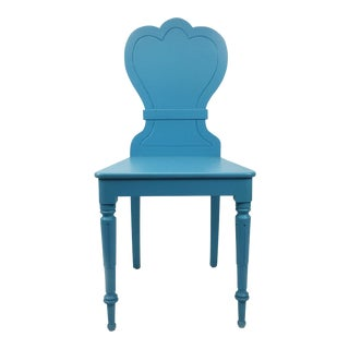 20th century Cottage Soft Blue Hall Chair For Sale