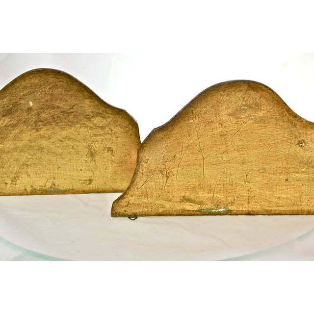 Florentine 20th Century Italian Florentine Gilt Wood Wall Shelves - a Pair For Sale - Image 4 of 6