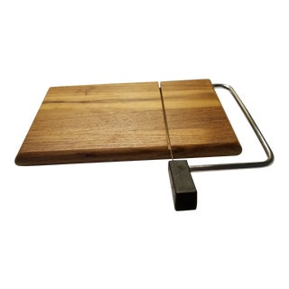 Mid Century Teak Wood Cheese Slicer Never Used For Sale