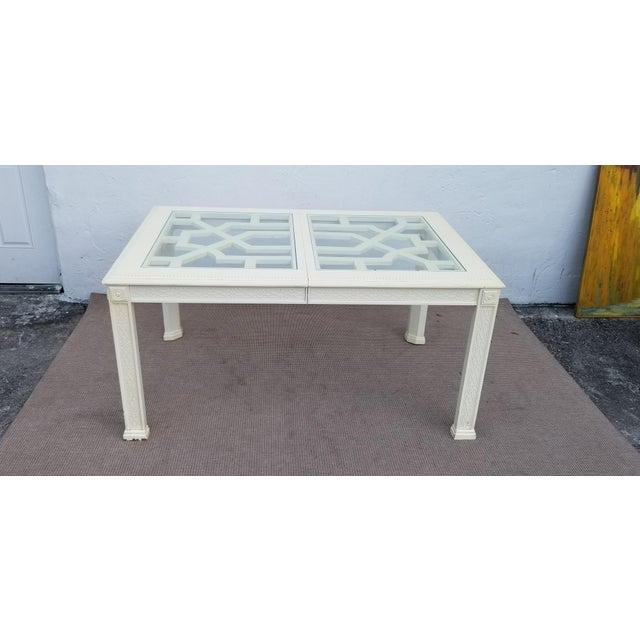 1960's Vintage Palm Beach Hollywood Regency Dining Table For Sale - Image 4 of 13