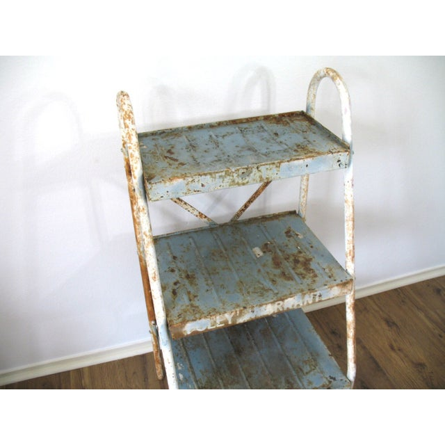 Antique Industrial Metal Shelves - Image 4 of 5
