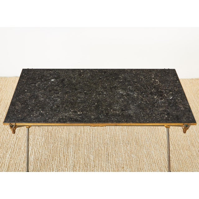 Black Maison Ramsay Marble Rams Head Cocktail Table For Sale - Image 8 of 13
