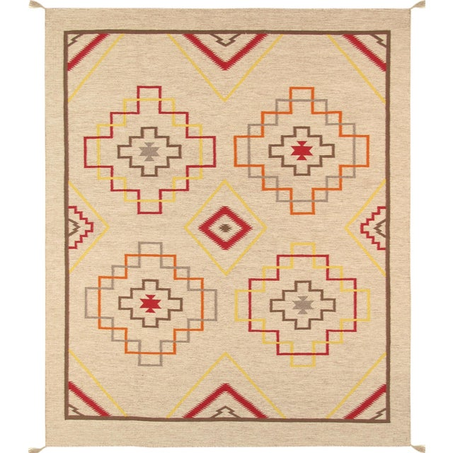 "Pasargad's Navajo Style Hand-Woven Rug - 8'1"" X 9'11"" For Sale"