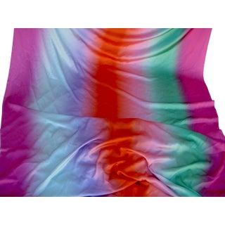 1970s Italian Textile Como Silk Fabric Rainbow - 9 Yards For Sale