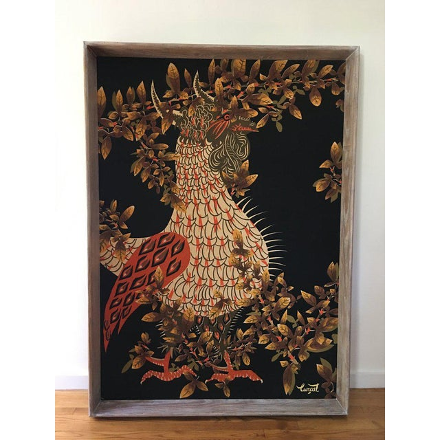 Jean Lurcat Mid-Century Modern Framed French Rooster Tapestry For Sale - Image 11 of 11