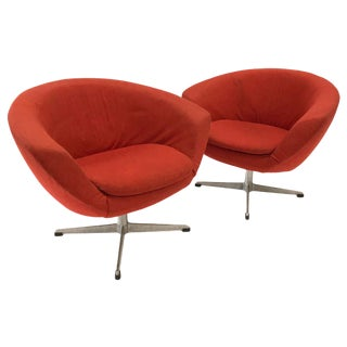 """1960s Overman """"Pod"""" Chairs — a Pair"""
