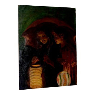 Jacob Weinles Original Oil Painting C.1920 For Sale