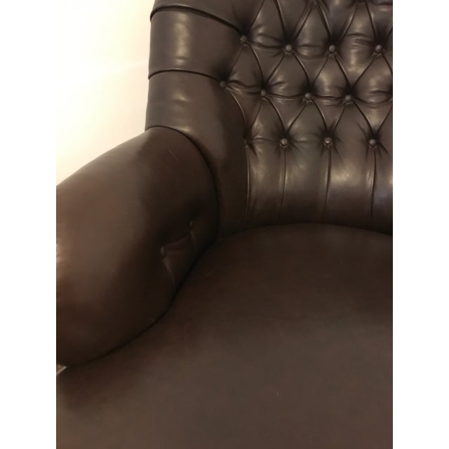 Ralph Lauren Home Collection Leather Reading Chair - Image 3 of 6