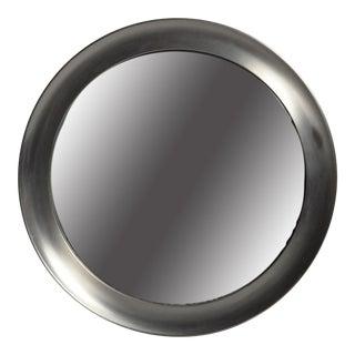 Impressive Metal Mirror in the Style of Sergio Mazza For Sale
