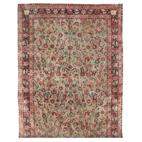 Exceptional Antique Persian Kashan Carpet - Image 1 of 1