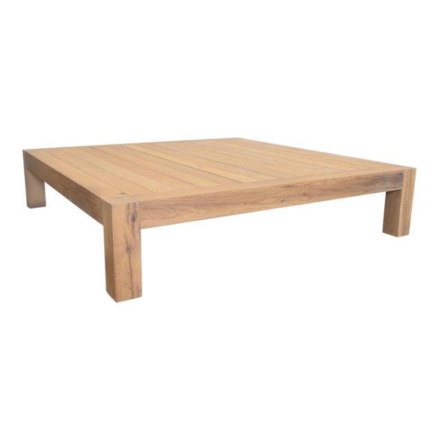 Ozshop Antique Oak Parson's Coffee Table - Square For Sale