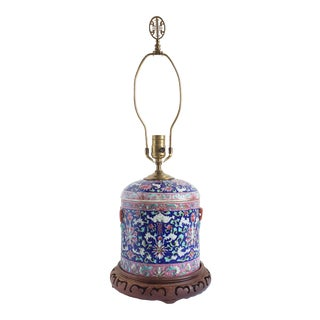 Antique Asian Porcelain Table Lamp For Sale