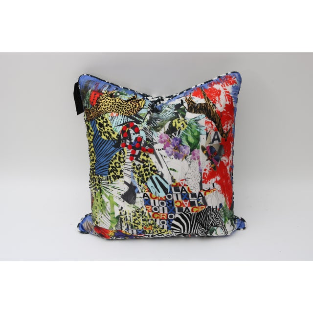 Modern Multi-Colored Christian Lacroix Pillow - Image 3 of 7
