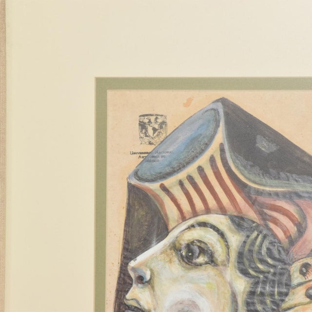 Modern Abstract Drawing Signed Rene Portocarrero For Sale In San Diego - Image 6 of 10