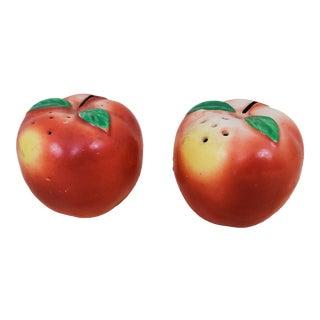 Mid-Century Peach Salt & Pepper Set- a Pair For Sale