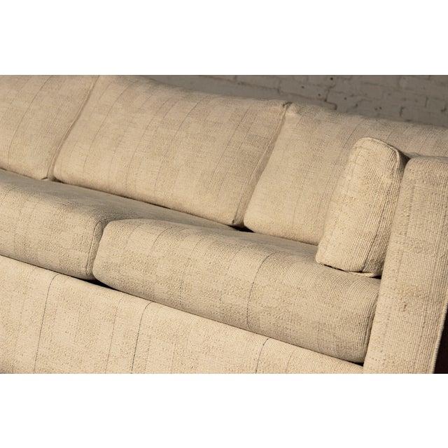 Mid-Century White Tuxedo Style Sleeper Sofa - Image 5 of 7