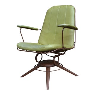 Vintage Mid Century Homecrest Swivel Rocker Lounge Chair For Sale