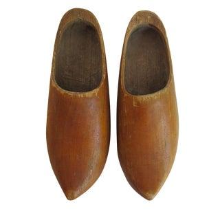 Dutch Wooden Clogs - A Pair