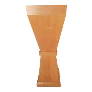 Tall Mid-Century Modern Pedestal Table For Sale