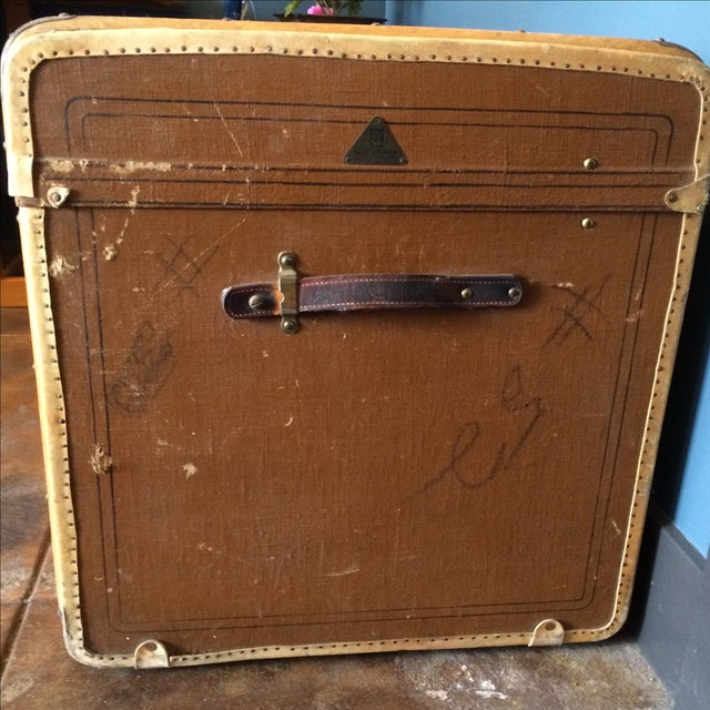 Leather Steamer Trunk by Albert Rosenhain For Sale In Los Angeles - Image 6 of 11