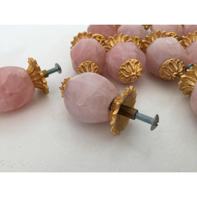 Sherle Wagner Pink Quartz & Gold Drawer Pulls - S/15 For Sale In Los Angeles - Image 6 of 6