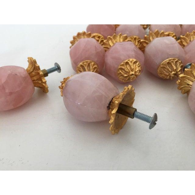 Sherle Wagner Pink Quartz & Gold Drawer Pulls - S/15 - Image 6 of 6